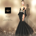TD Desire Gown with Appliers Black