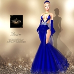 TD Desire Gown with Appliers Blue
