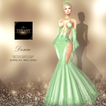 TD Desire Gown with Appliers Green