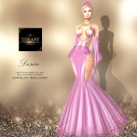 TD Desire Gown with Appliers Pink