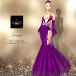 TD Desire Gown with Appliers Purple