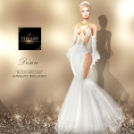TD Desire Gown with Appliers White